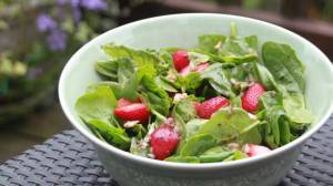 Spinach and Strawberrie Salad